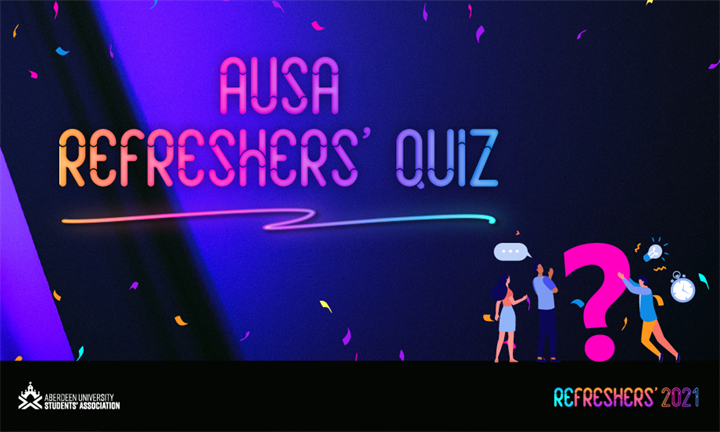 AUSA's Big Refreshers' Quiz 7pm