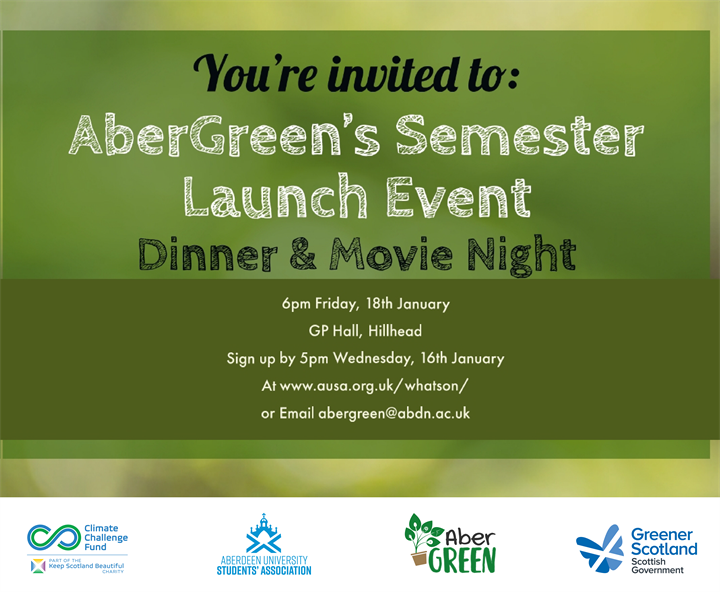 Dinner and a movie with AberGreen