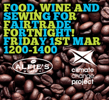 Food, wine and sewing for Fairtrade fortnight!